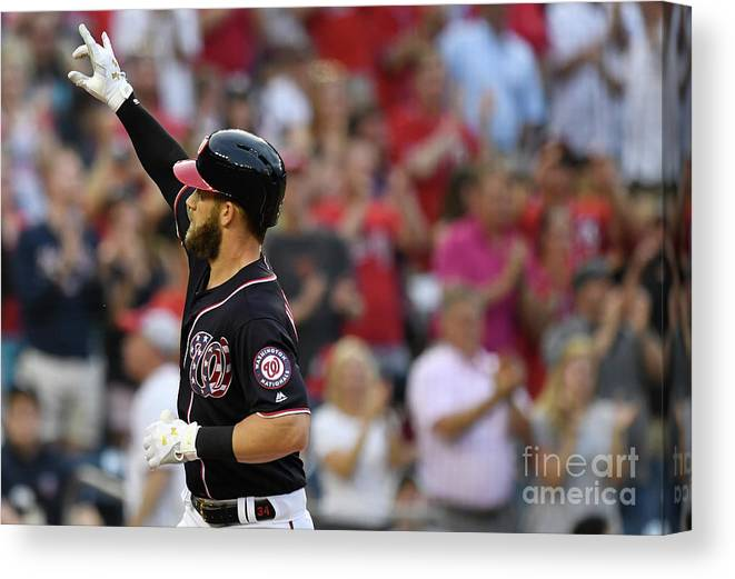 People Canvas Print featuring the photograph Bryce Harper by Patrick Mcdermott