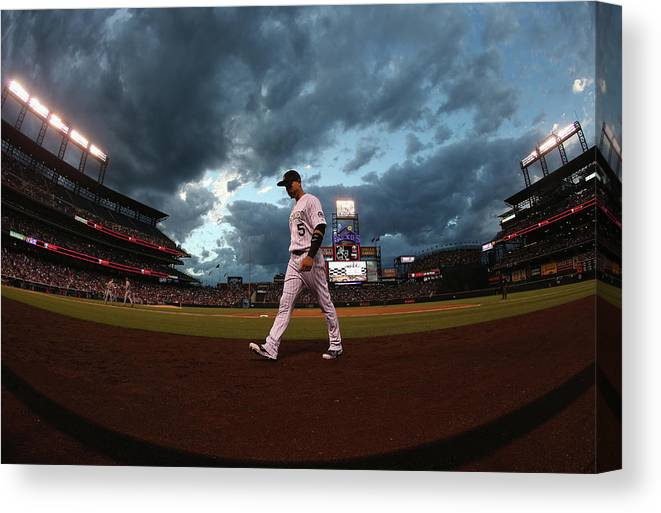 People Canvas Print featuring the photograph Carlos Gonzalez by Doug Pensinger