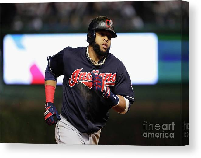 Second Inning Canvas Print featuring the photograph Carlos Santana by Jamie Squire