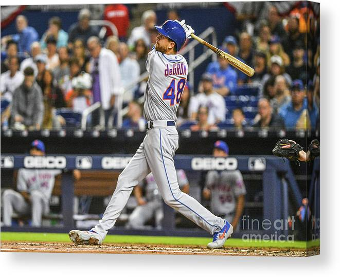 Jacob Degrom Canvas Print featuring the photograph Jacob Degrom by Mark Brown