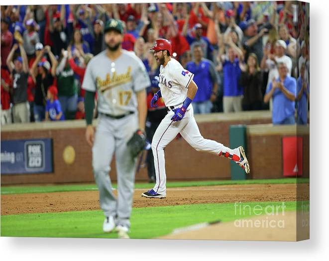 Ninth Inning Canvas Print featuring the photograph Joey Gallo by Rick Yeatts
