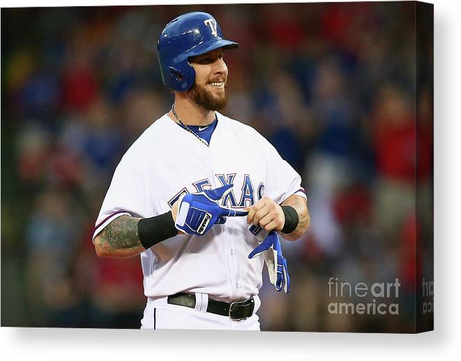 Second Inning Canvas Print featuring the photograph Josh Hamilton by Ronald Martinez