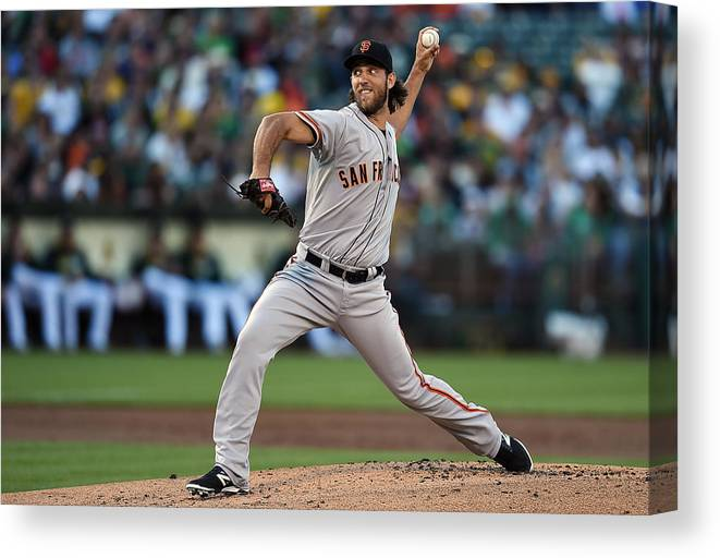 American League Baseball Canvas Print featuring the photograph Madison Bumgarner by Thearon W. Henderson