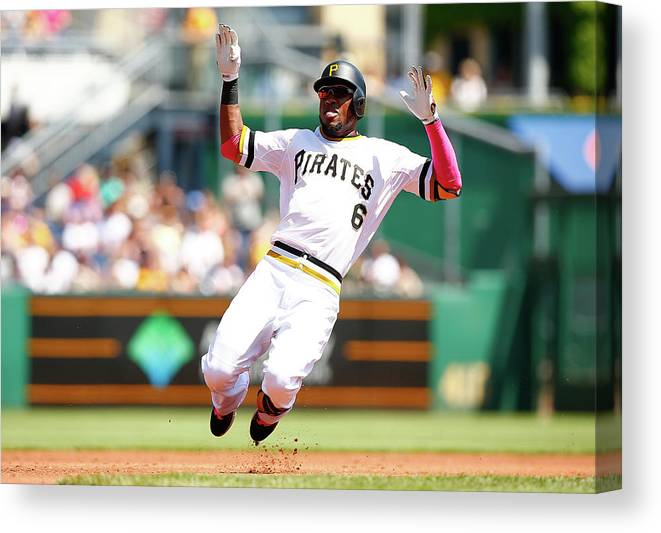 Following Canvas Print featuring the photograph Starling Marte by Jared Wickerham
