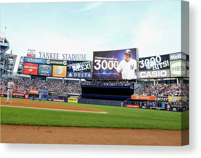 People Canvas Print featuring the photograph Alex Rodriguez by Al Bello