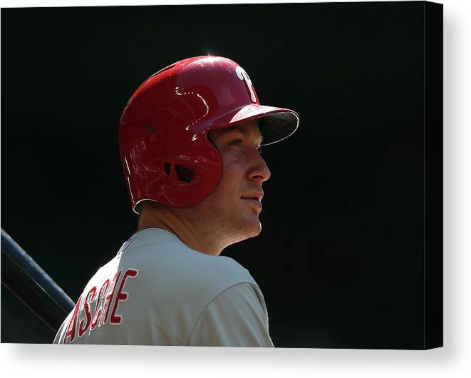 Cody Asche Canvas Print featuring the photograph Cody Asche by Christian Petersen