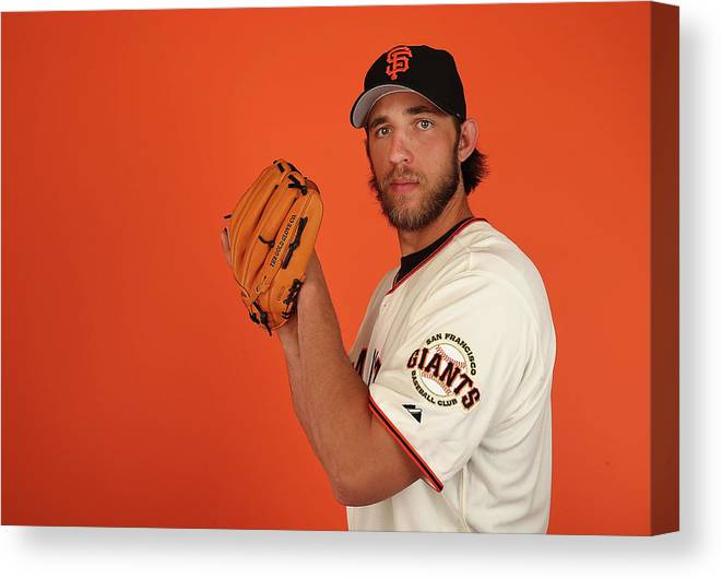Media Day Canvas Print featuring the photograph Madison Bumgarner by Christian Petersen