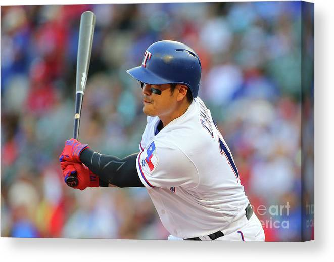 People Canvas Print featuring the photograph Shin-soo Choo by Rick Yeatts