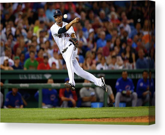 American League Baseball Canvas Print featuring the photograph Xander Bogaerts by Jared Wickerham