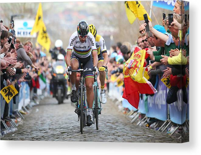 Belgium Canvas Print featuring the photograph 100th Tour of Flanders by Bryn Lennon
