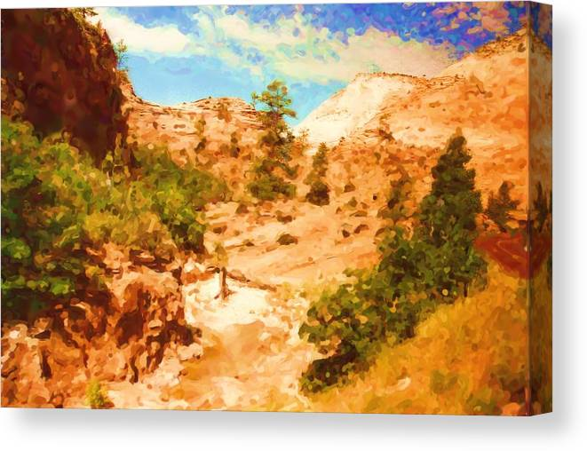 Arizona Canvas Print featuring the mixed media Arizona by Asbjorn Lonvig