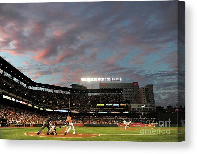 Second Inning Canvas Print featuring the photograph Chris Davis by Greg Fiume