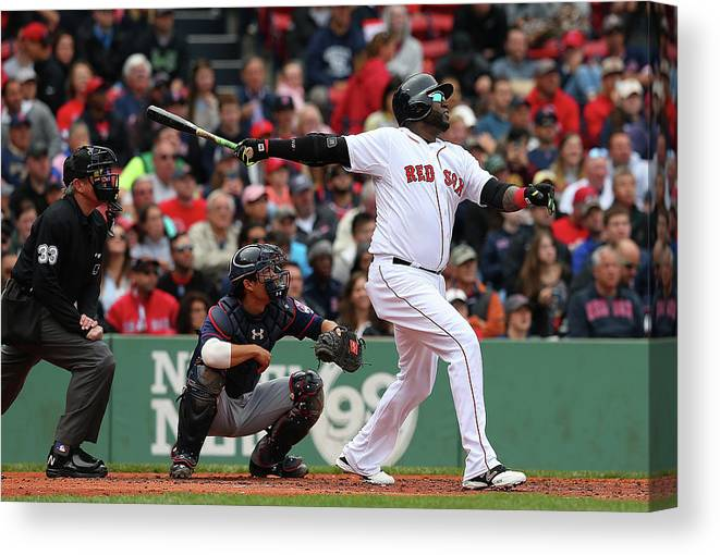 People Canvas Print featuring the photograph David Ortiz by Jim Rogash