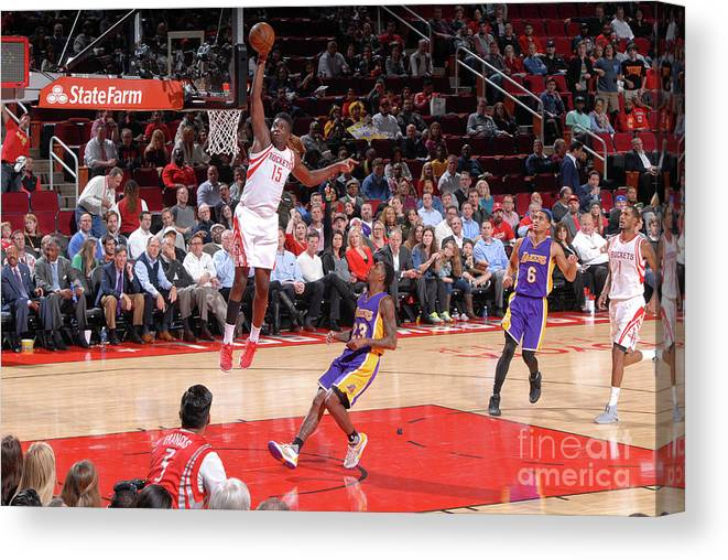 Nba Pro Basketball Canvas Print featuring the photograph Clint Capela by Bill Baptist