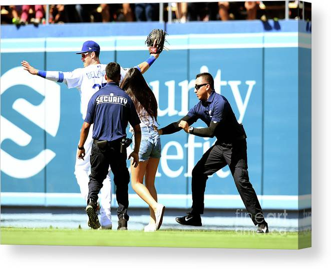 People Canvas Print featuring the photograph Cody Bellinger by Harry How