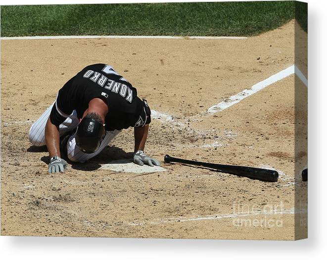 American League Baseball Canvas Print featuring the photograph Paul Konerko by Jonathan Daniel