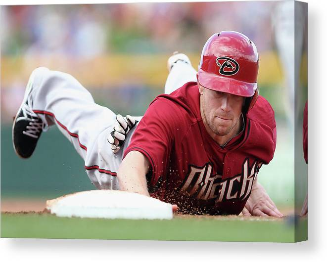Motion Canvas Print featuring the photograph Aaron Hill by Christian Petersen