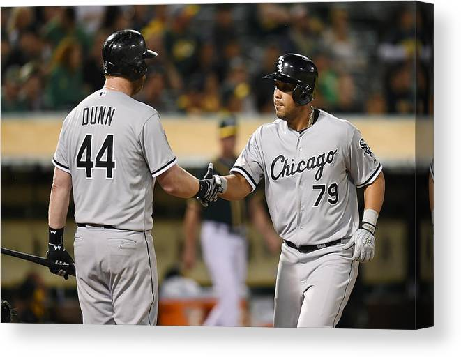 Ninth Inning Canvas Print featuring the photograph Adam Dunn by Thearon W. Henderson