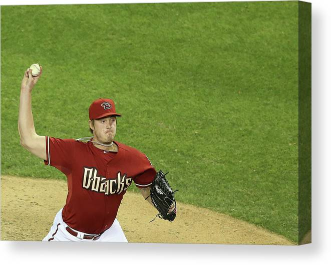 Relief Pitcher Canvas Print featuring the photograph Addison Reed by Christian Petersen