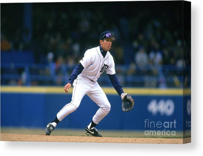 Sports Ball Canvas Print featuring the photograph Alan Trammell by John Reid Iii