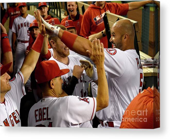 People Canvas Print featuring the photograph Albert Pujols by Jayne Kamin-oncea
