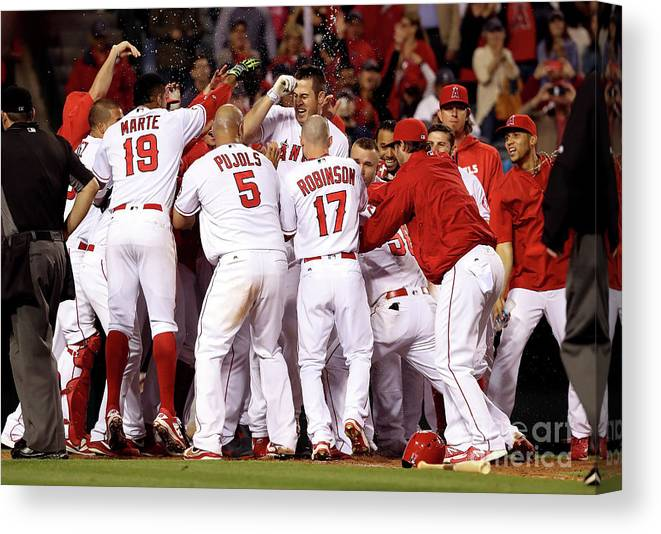 Ninth Inning Canvas Print featuring the photograph Albert Pujols by Sean M. Haffey