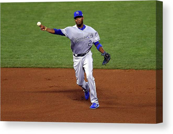 San Francisco Canvas Print featuring the photograph Alcides Escobar by Elsa