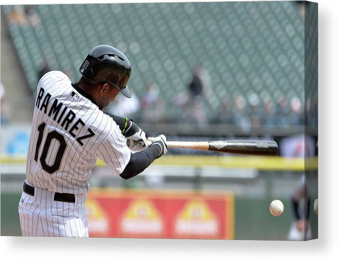 Second Inning Canvas Print featuring the photograph Alejandro De Aza and Alexei Ramirez by Brian Kersey