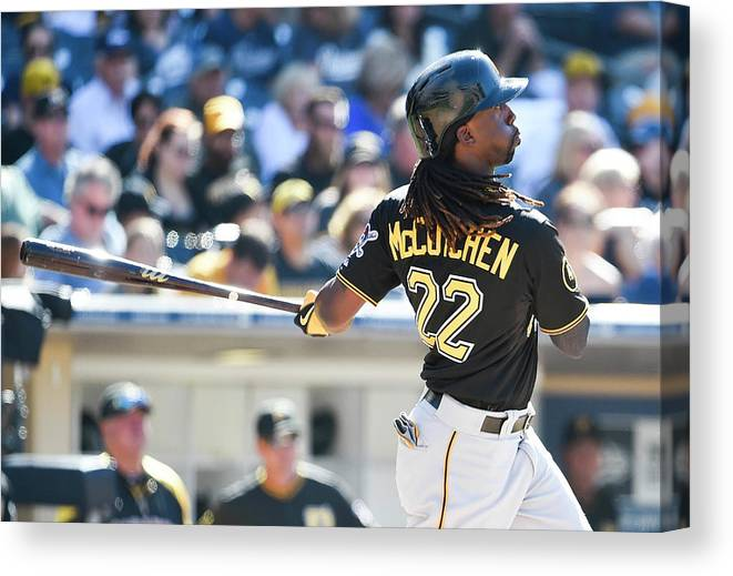 California Canvas Print featuring the photograph Andrew Mccutchen by Denis Poroy