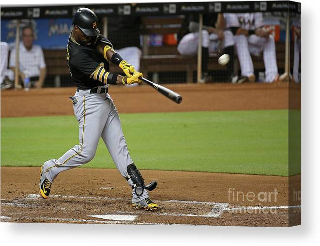 People Canvas Print featuring the photograph Andrew Mccutchen by Mike Ehrmann