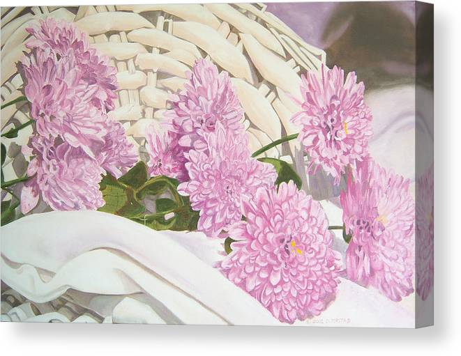 Fine Art Print Canvas Print featuring the painting Floral Art Print For Sale Still Life Oil Painting by Diane Jorstad