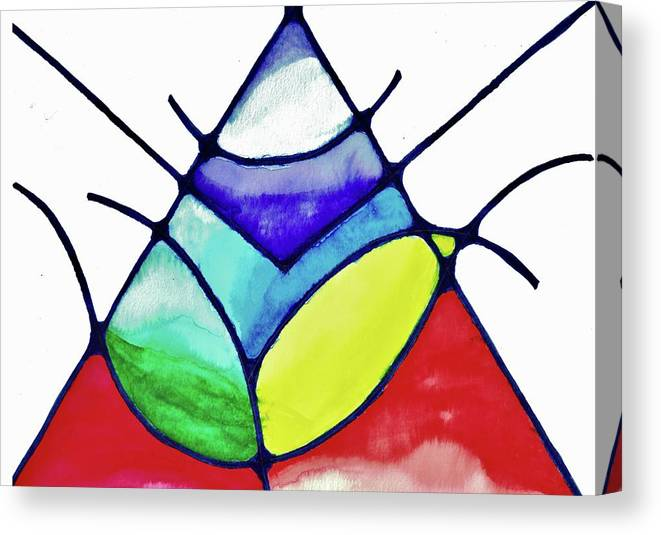 Abstract Canvas Print featuring the painting Ascension by Della McGee