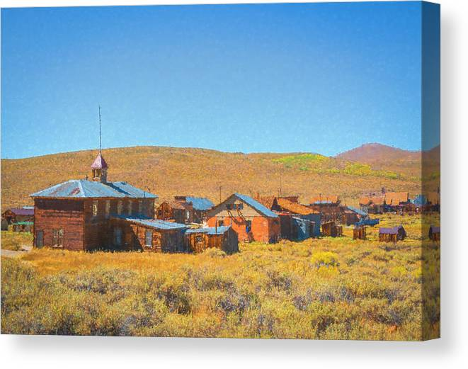 Bodie Canvas Print featuring the photograph A Crisp Fall Day In Bodie Ca by Lindsay Thomson
