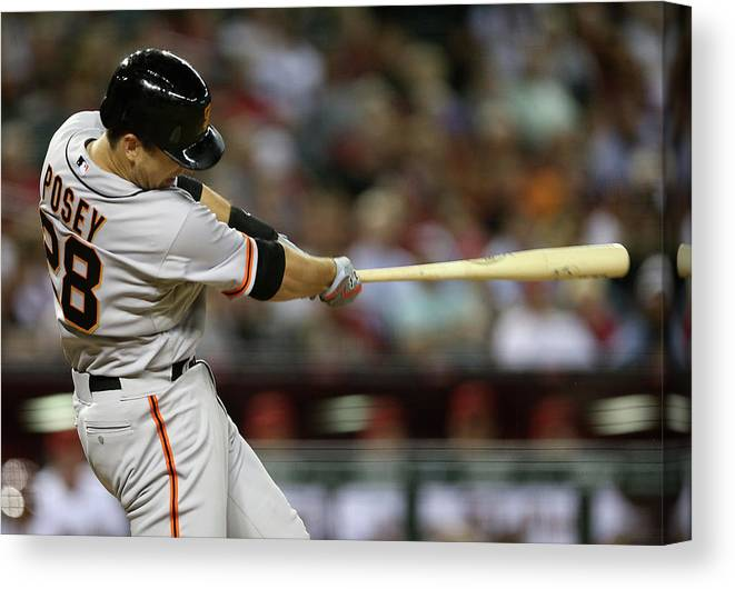 Ninth Inning Canvas Print featuring the photograph Buster Posey by Christian Petersen