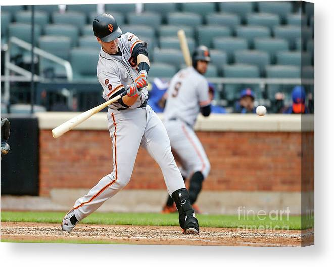 People Canvas Print featuring the photograph Buster Posey by Jim Mcisaac