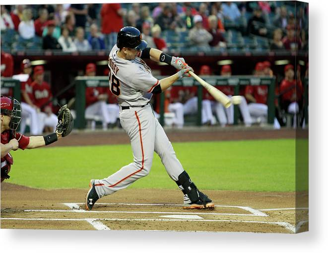 American League Baseball Canvas Print featuring the photograph Buster Posey by Ralph Freso