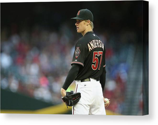 Baseball Pitcher Canvas Print featuring the photograph Chase Anderson by Christian Petersen