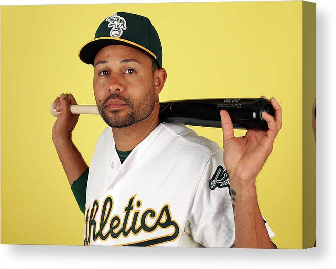 Media Day Canvas Print featuring the photograph Coco Crisp by Christian Petersen