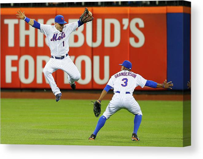 People Canvas Print featuring the photograph Curtis Granderson by Jim Mcisaac