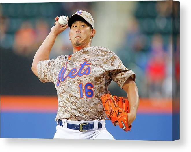 Second Inning Canvas Print featuring the photograph Daisuke Matsuzaka by Jim Mcisaac