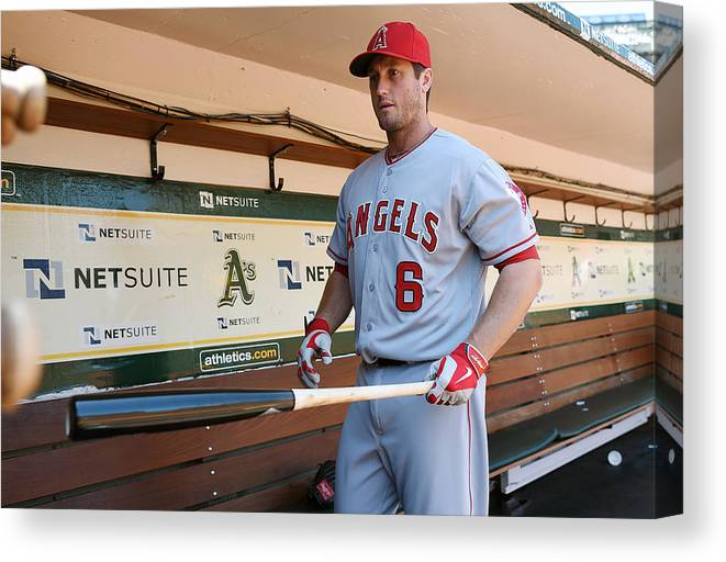 American League Baseball Canvas Print featuring the photograph David Freese by Thearon W. Henderson
