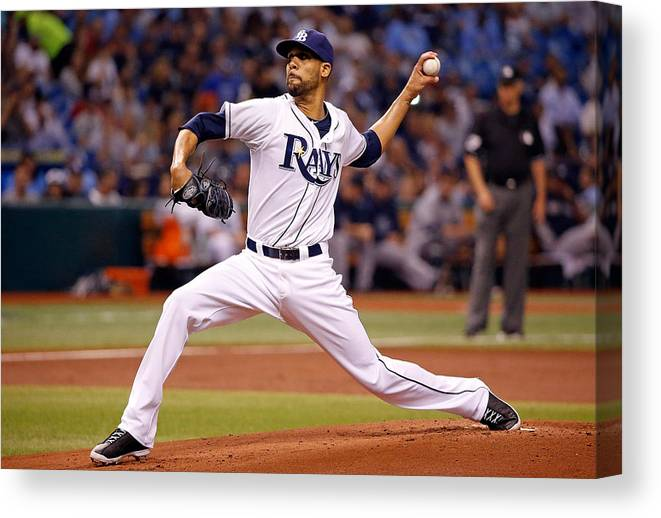 David Price Canvas Print featuring the photograph David Price by J. Meric