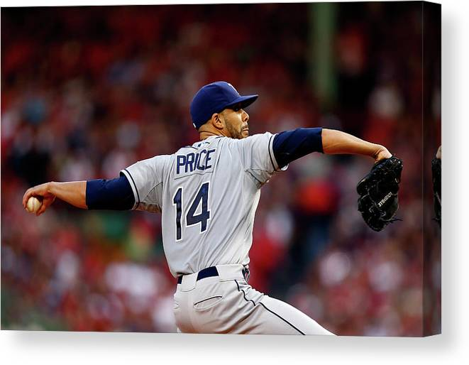David Price Canvas Print featuring the photograph David Price by Jared Wickerham