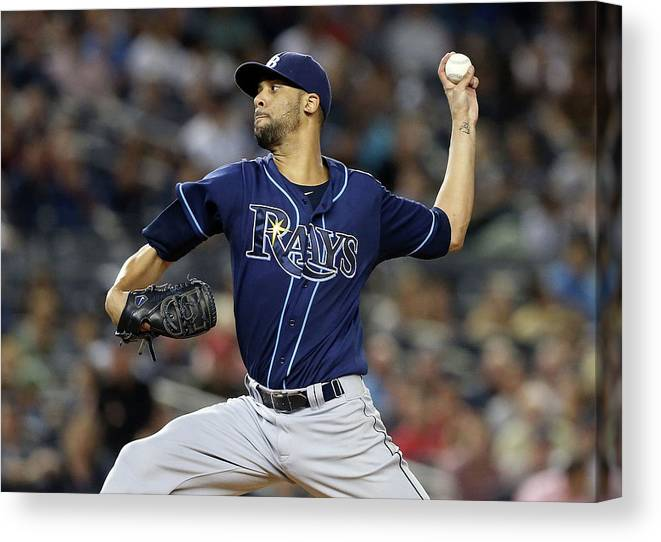 David Price Canvas Print featuring the photograph David Price by Jim Mcisaac