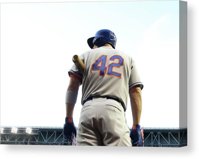 Baseball Uniform Canvas Print featuring the photograph David Wright by Christian Petersen