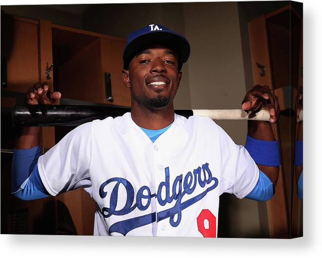 Media Day Canvas Print featuring the photograph Dee Gordon by Christian Petersen