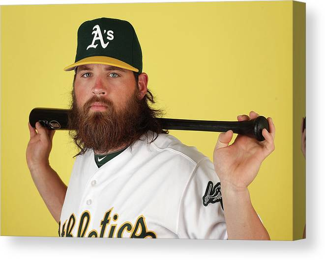 Media Day Canvas Print featuring the photograph Derek Norris by Christian Petersen