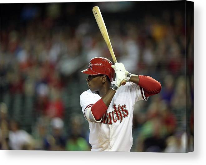 National League Baseball Canvas Print featuring the photograph Didi Gregorius by Christian Petersen