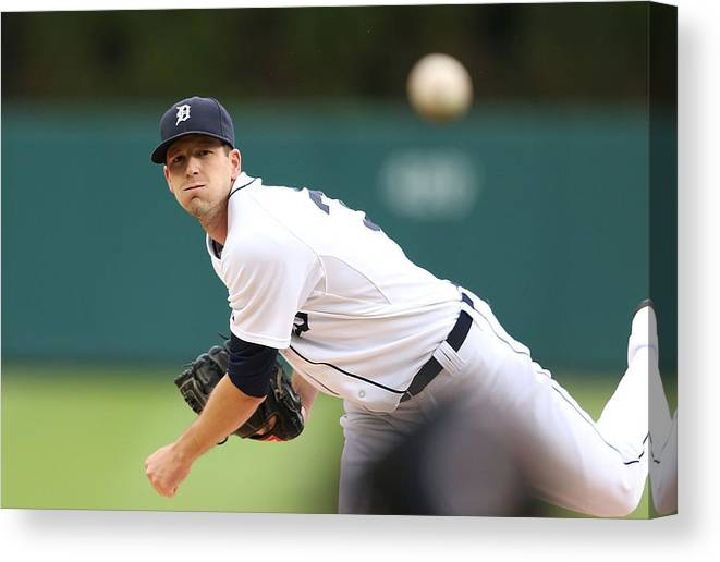 American League Baseball Canvas Print featuring the photograph Drew Smyly by Leon Halip