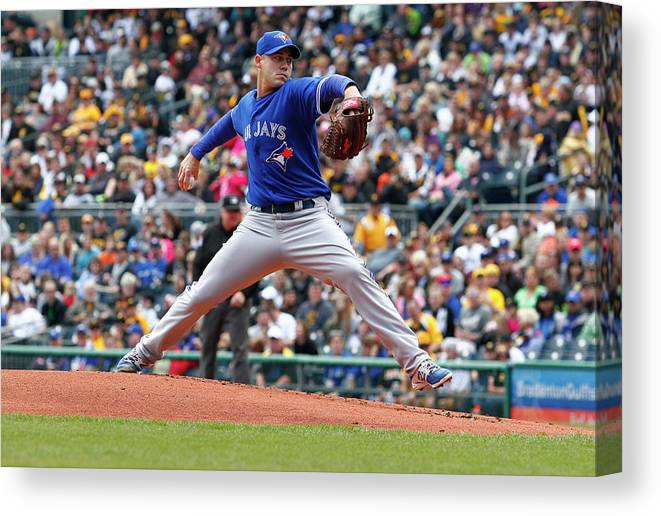 Professional Sport Canvas Print featuring the photograph Dustin Mcgowan by Justin K. Aller